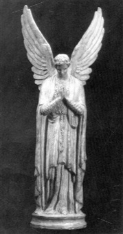 'guardian angel', a plaster figure by e. m. mellor