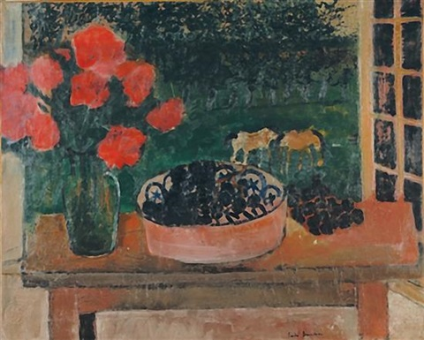 still life on the window sill by andré brasilier