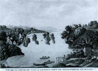 vue de la chute du rhin a lauffen pres de schaffhouse en  suisse by georg friedrich gmelin