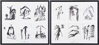 histoire fantastique, en langue arabe, d'une silhouette se déplaçant dans l'espace (12 works) by mohamed kacimi