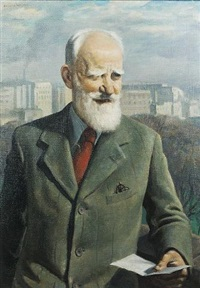 portrait of george bernard shaw by edmund hugh nelson