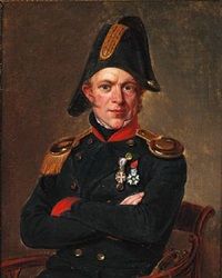 portrait of naval officer søren ludvig tuxen (1790-1856) by emilius baerentzen
