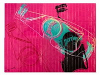 perrier rose, 1983 by andy warhol