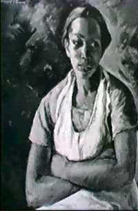 portrait of a black woman by bernard i. green