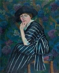 dama entre flores by manuel abelenda