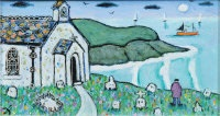 chapel by porthmeor beach, st. ives by joan gillchrest