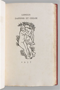 daphnis et chloé (bk by longus w/49 works) by aristide maillol