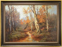 autumn landscape by georgiy zakharovich bashinzhagyan