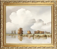 river landscape by andre de lievin