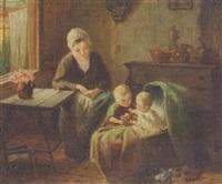 mother and children by frans arnold breuhaus de groot