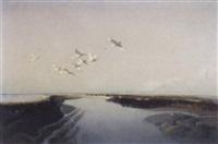 october flight, blakeney, norfolk by vernon ward