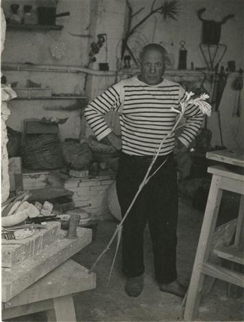 picasso dans son atelier by robert doisneau