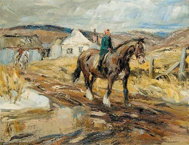 off to school, arundel, pq by henry john simpkins