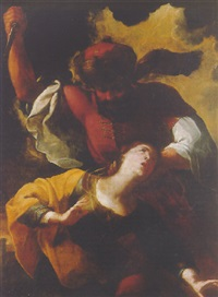 the martyrdom of saint barbara by michele ragoglia