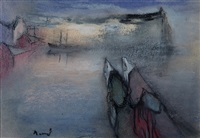 two women in a harbour by elvi maarni