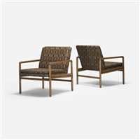 lounge chairs (pair) by ward bennett