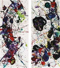 power word (diptych) by sam francis
