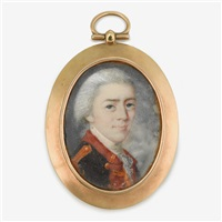 rare miniature portrait of benjamin flower (1748-1781), colonel in the artillery by american school (18)