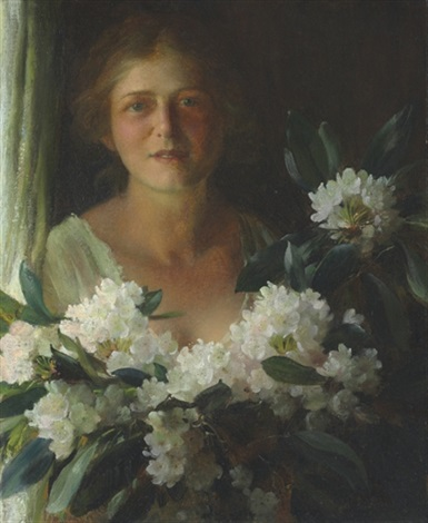 rhododendrons by charles courtney curran
