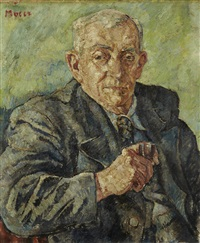 portrait d'homme à la pipe by maria-mela muter
