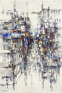 abstract painting by efraim modzelevich