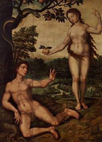 the fall adam and eve in the garden of eden by jan gerritsz heemskerck