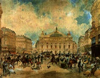 la place de l'opera a paris by edmond morin