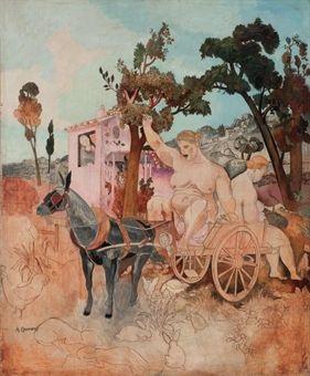 femmes au lavandou by alfred louis courmes