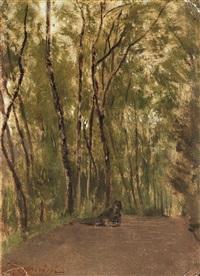 figura distesa nel bosco by telemaco signorini