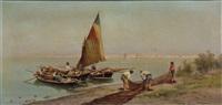 fischerboote vor venedig by pietro barucci