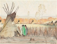 autumnal teepees by joseph henry sharp