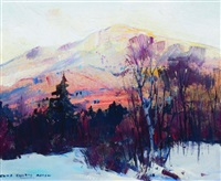 madonna mountain (sunrise), jeffersonville by charles curtis allen