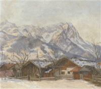 wettersteingebirge mit zugspitze im winter by yvonne rosberg