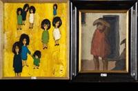 eparpillées et enfant (2 works) by jef wauters