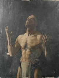a gladiator (study) by jessie i. dunlop