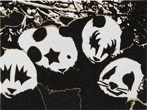 kiss pandas by rob pruitt