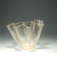 vase fazzoletto by ferro murano