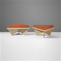 pair of stools from the price house, bartlesville, oklahoma by bruce goff