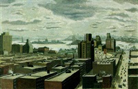 lower manhattan from canal street south by lucile blanch