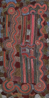 warlu jukurrpa - fire stick dreaming by japaljarri paddy sims