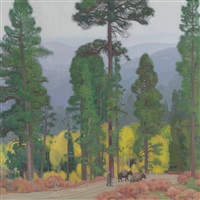 mountain aspens, taos by ernest martin hennings