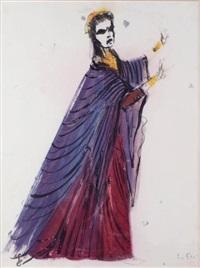 la femme drapée de rouge by leonor fini