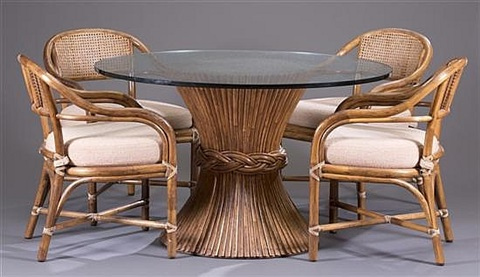 Sheaf Of Wheat Dining Table And Arm Chairs 5 Works By Mcguire