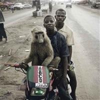 emeka, motorcyclist, and abdullah ahmadu, asaba, nigeria by pieter hugo