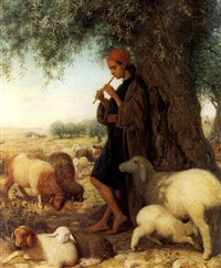 a shepherd piping by william j. (webbe) webb