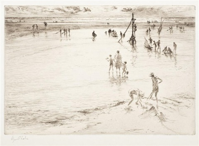 marée basse villers sur mer by edgar chahine
