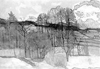 schneeschmelze an der kampenwand by hans müller-schnuttenbach