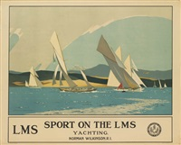 sport on the lms/yachting by norman wilkinson