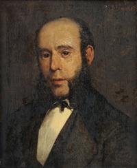 portret van een man by bernardus johannes blommers