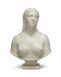 bust of eve disconsolate by hiram powers